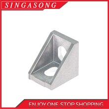 10pcs Aluminum 2020 Corner Bracket Fittings 20x20x17mm Corner Angle Bracket for DIY laser engraving machine
