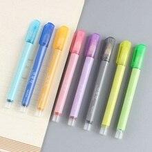 8 PCS Marker Pen-Set Gel Tinte Doppel Linie Stift Farbe Kunst Marker Für Erwachsene Kinder Student marker schreibwaren set