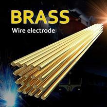 20/10Pcs Brass Welding Wire Electrode Soldering Rod No Need Solder Hardware Tool 1.6Mm*333Mm