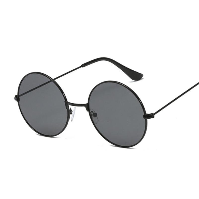Vintage Small Round Sunglasses Women Brand Designer Sunglasses Female Alloy Colorful Mirror Retro Black Circle Oculos De Sol
