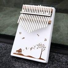 KERUS 17 teclas Kalimba pulgar Piano hecho por una sola placa de madera de alta calidad cuerpo instrumento musicalde caoba