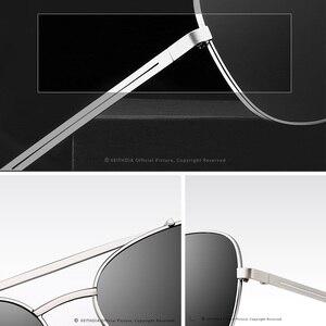 Image 4 - VEITHDIA Marke männer Vintage Sonnenbrille Edelstahl Sonnenbrille Platz Polarisierte UV400 Objektiv Männlichen Brillen Zubehör Für Männer