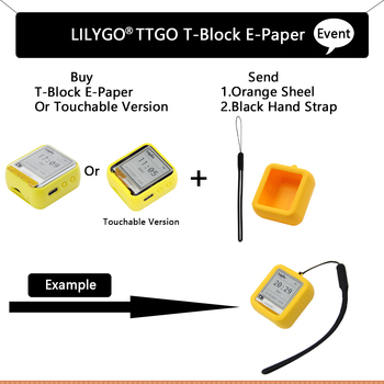 LILYGO® TTGO T-Block ESP32 Main Chip 1.54 Inch E-Paper Top Cover Programmable And Assemblable Development Hardware
