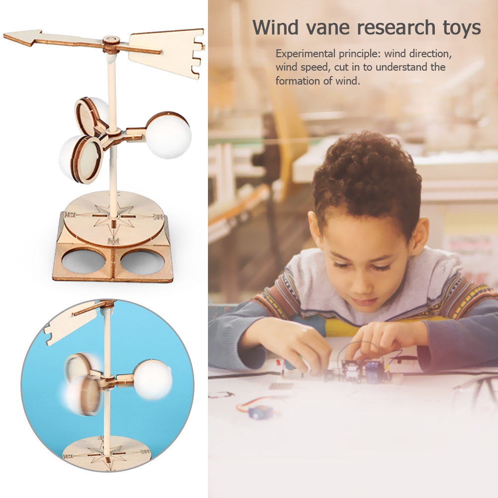 Students DIY Wind Vane Model Kit Develop Children Curiosity Creativity Direction Science Experiment Educational Toys