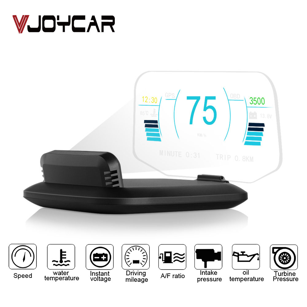 New Head Up Display OBD Car Electronics C1 HUD Display Diagnostic Tool Car GPS Speedometer Overspeed Warning OBD2+GPS Dual Mode