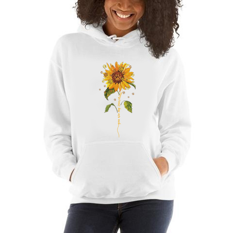 eBay Amazon wish independent station explosion models sunflower fun pattern printing long-sleeved hoodie(China)