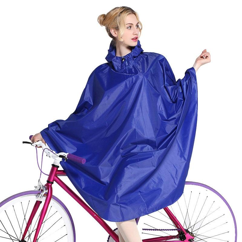 Long Hooded Raincoat Women Bike Rain Poncho Bicycle Outdoor Rainwear Overalls Waterproof Womens Raincoat Adult Rain Gear CYY412