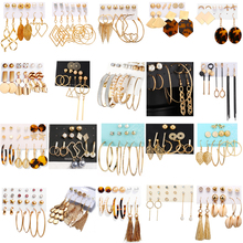 Vintage Tassel Acrylic Earrings Ear Studs Women Girl Bohemian Earrings Set Big Dangle Pearl Drop Hoop Earring Jewelry Gift badu long ostrich feather earring women fashion jewelry freshwater pearl bohemian vintage dangle drop earrings