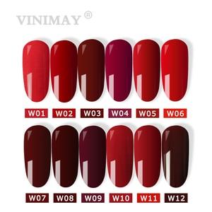 Image 2 - VINIMAY offre spéciale Gel rouge vernis à ongles vernis semi permanent UV tremper Gel vernis à ongles vernis manucure ongles Gel Lacque