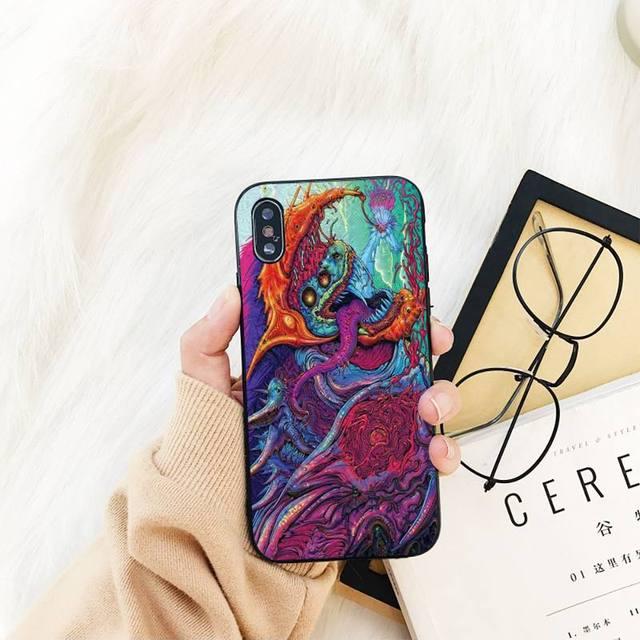 Yinuoda Hyper bête Csgo Bling mignon étui de téléphone pour iPhone 11 8 7 6 6S Plus X XS MAX 5 5S SE 2020 XR 11 pro couverture