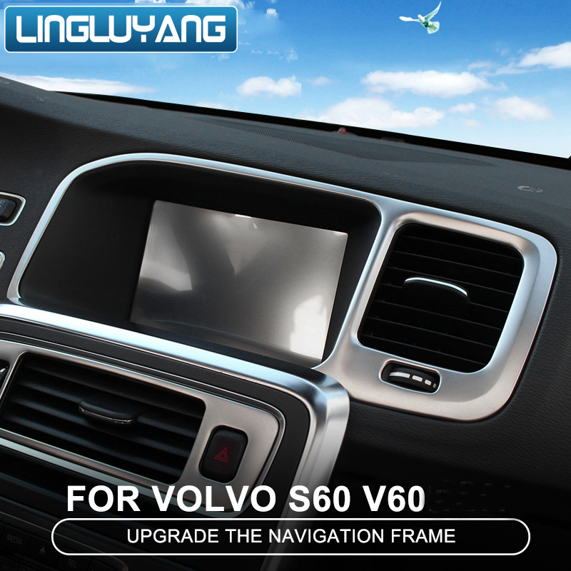 For VOLVO XC60 2009-2015 Stainless Front Central Armrest Decoration Strip Trim