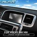 Konsole navigation rahmen dekoration abdeckung trim edelstahl streifen innen molding pailletten 3D aufkleber für Volvo S60 V60