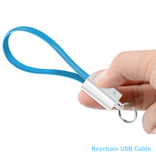 Portable USB Cable Keychain Type C Micro usb Data Short Cables For iphone XS Huawei Xiaomi Mi9 Mini Key Chain Charger Cord Wire