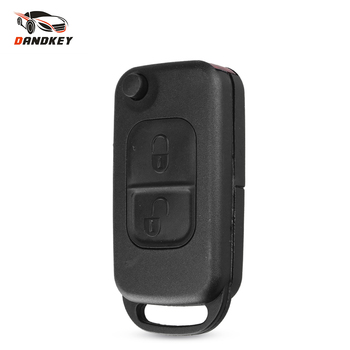 Dandkey Flip Key Shell For Mercedes Benz ML C CL S SL SEL W203 Uncut Blank Blade Auto Car Remote Key Cover Case Fob 2/3/4 Button image