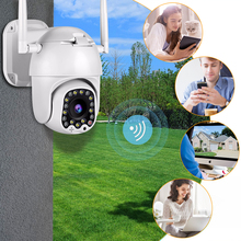 Outdoor 2MP Auto Tracking 1080P Cloud Wifi PTZ Camera Home Security IP Camera 4X Digital Zoom Speed Dome Camera with Siren Light