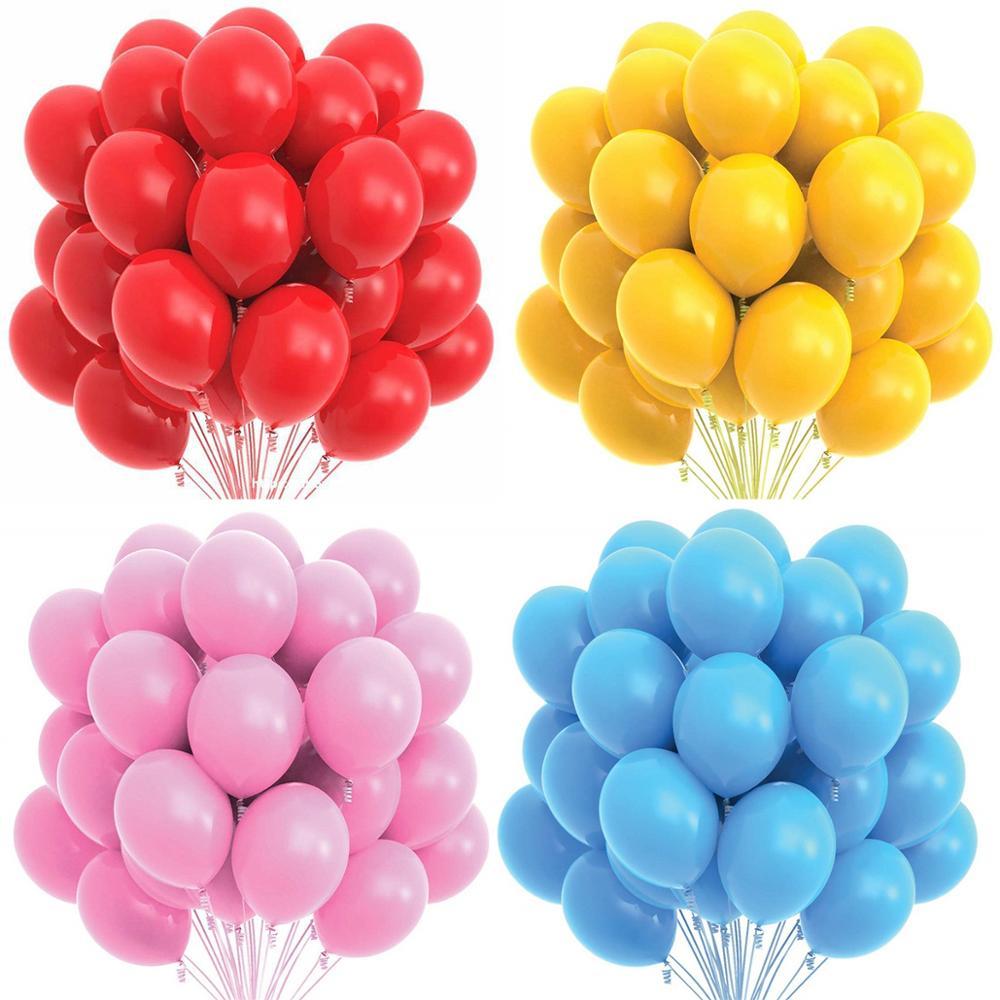 10/20 штук 10 дюймов, розовые, синие, красные воздушные шарики из латекса День рождения Декор Пижама для детей и взрослых, на свадьбу, день рожде...