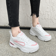 2020 New Sneakers Women Casual Shoes Lace Up Platform Vulcanize Shoes Woman White Flats Female Thick Bottom Comfortable Footwear(China)
