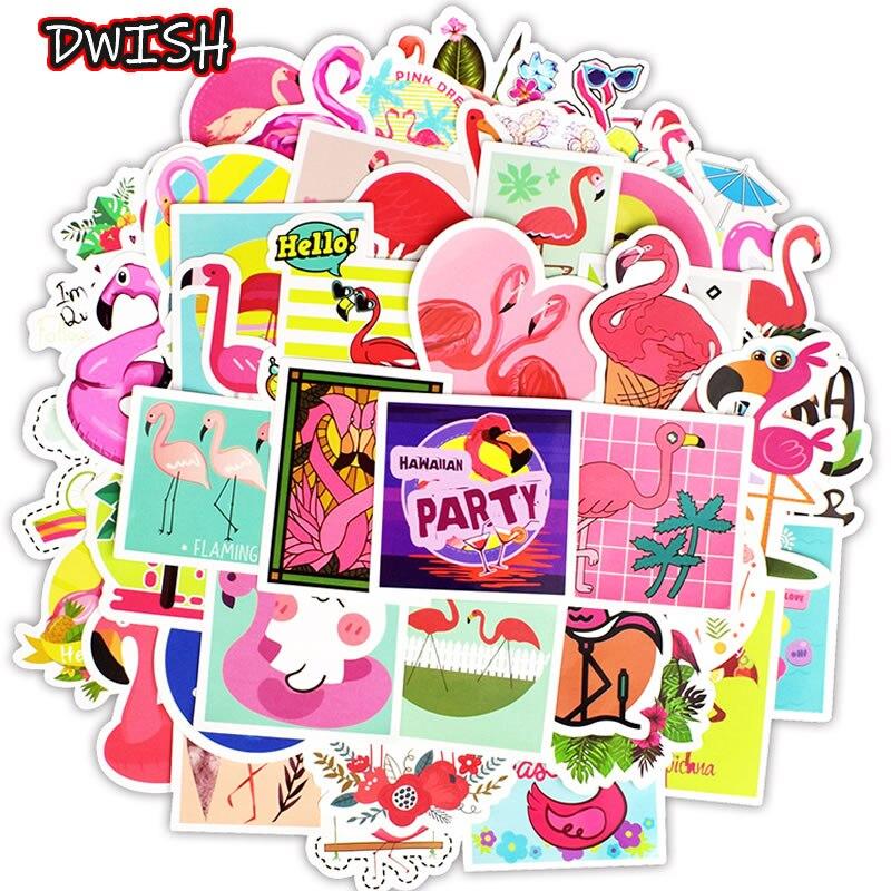 50pcs/Pack Kawaii Cute Animal Flamingo Girl Stickers Skateboard Guitar Suitcase Bicycle Graffiti Sticker Kids Funny Classic Toy