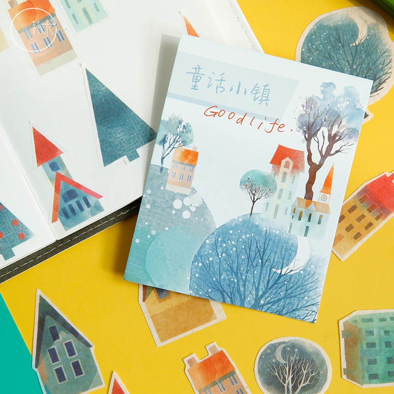 40 Pcs/pack Forest Story Series Journal Decorative Stickers Scrapbooking Stick Label Diary Stationery Album Stickers