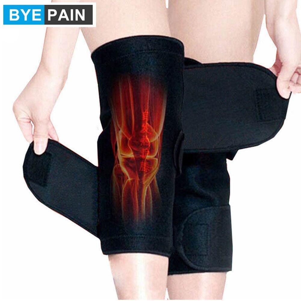 1 пара BYEPAIN турмалиновый самонаколенник с подогревом Магнитная терапия поддержка колена турмалиновая повязка на колено бандаж пояс массаже...
