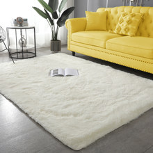 Imitation Rabbit Fur Carpet Modern living Room Soft Fluffy Plush Rugs For Children's Bedroom Rugs Faux fur Mats Solid Color