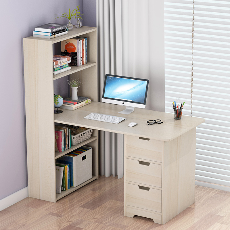 Computer Table Simplicity Desktop Table Household Corner Desk Bookcase One-piece Combination Simple Students Writing Desk Econom