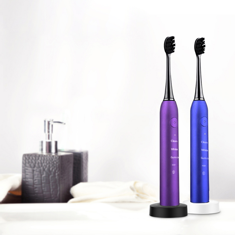 Sonic Toothbrush Cleaning Whitening Replaceable Dupont Head USB Charging Ultrasonic Electric Toothbrush for Best Gift image