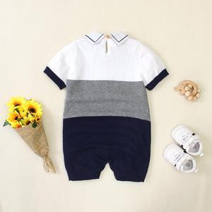Детский комбинезон с короткими рукавами; комбинезоны для новорожденных; Комбинезоны для маленьких мальчиков; комбинезоны; забавные трикот...