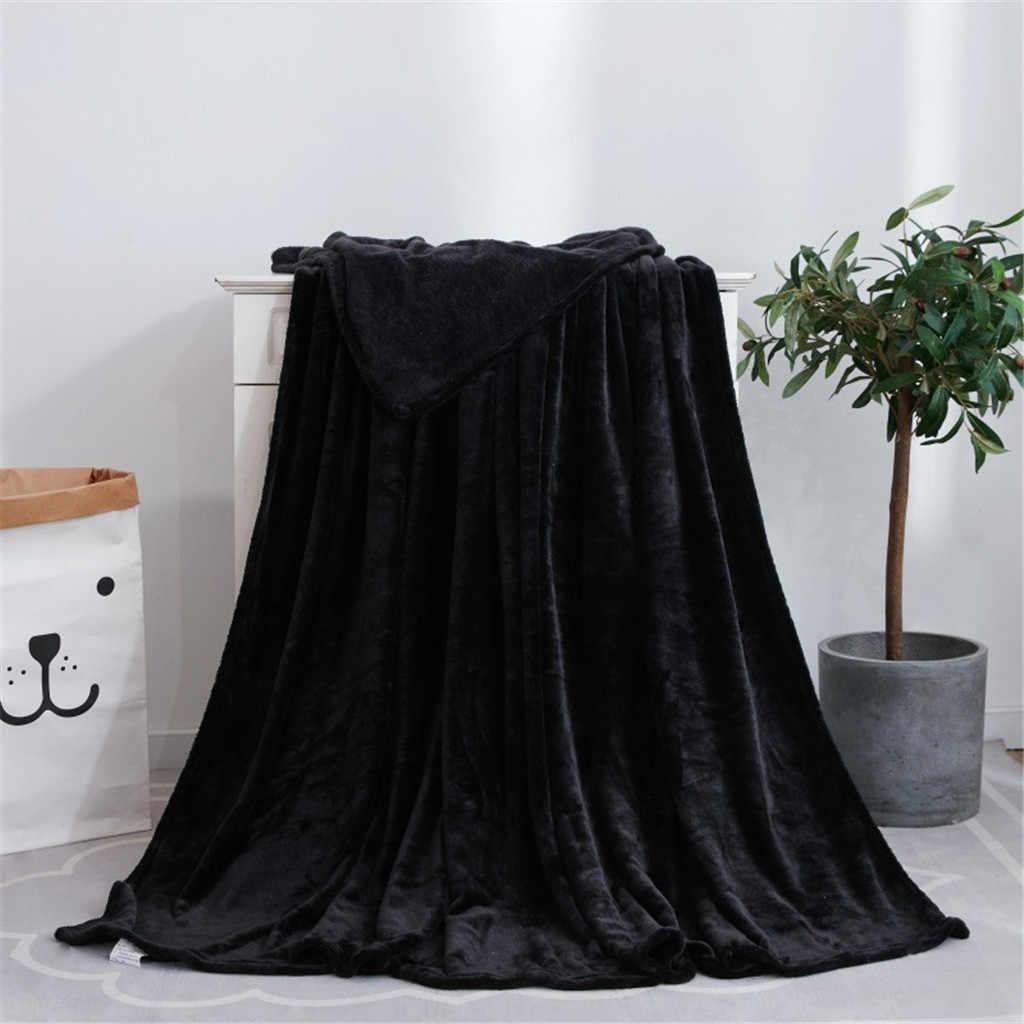 1 قطعة بطانية الفانيلا الصلبة لينة غرفة المعيشة غرفة نوم تكييف الهواء السرير البطانيات ل أريكة الفراش غطاء النوم الفراش يلقي