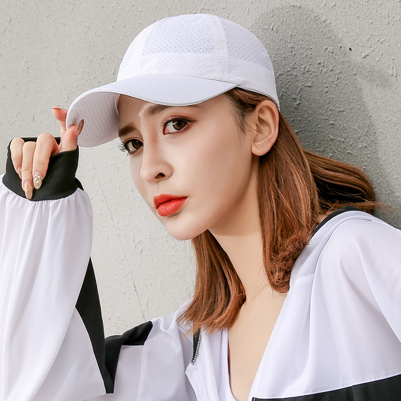 Hat Men Spring and Summer Solid Color Quick-drying Baseball Cap Women Fall Sunscreen Shade Mesh Breathable Cap Casual Solid