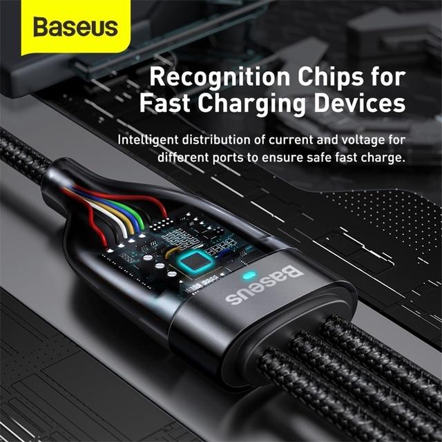 Baseus 3 in 1 USB Ladekabel PD 100W 5