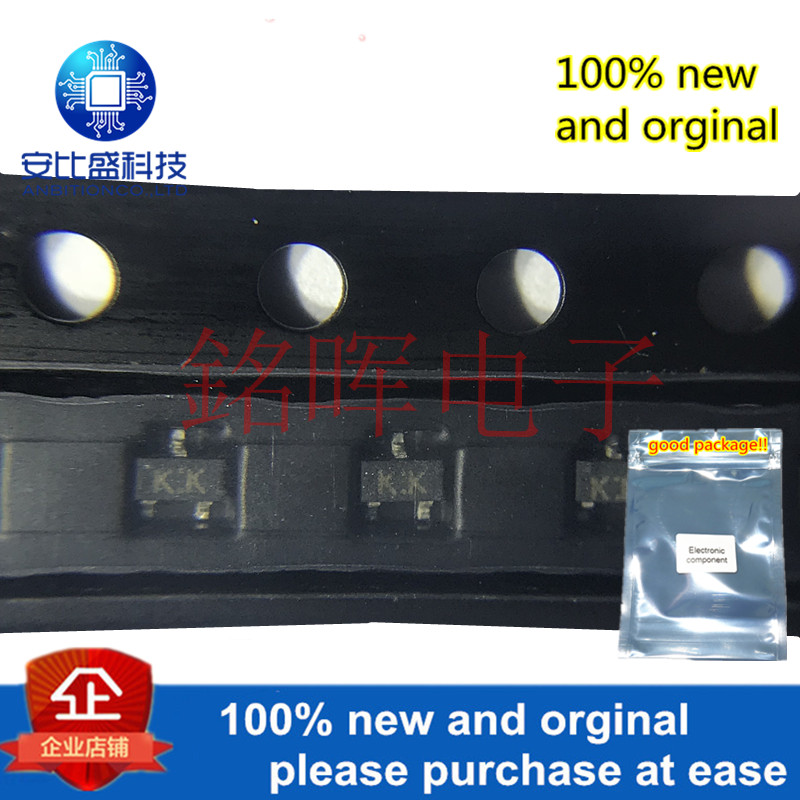 10pcs 100% New And Orginal 2SK2825 Silk-screen KK SOT523 20V 100mA In Stock