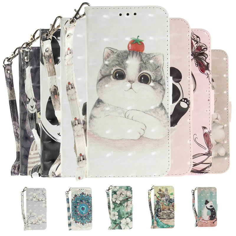 6.4'' M30S Flip Case for Coque Samsung M30S Case PU Leather 3D Cute Wallet Cover for Samsung Galaxy M30S 2019 M 30S 30 S Fundas