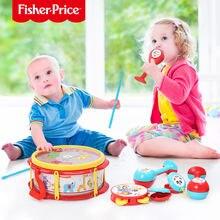 Детский ручной барабан fisher price набор инструментов maracas