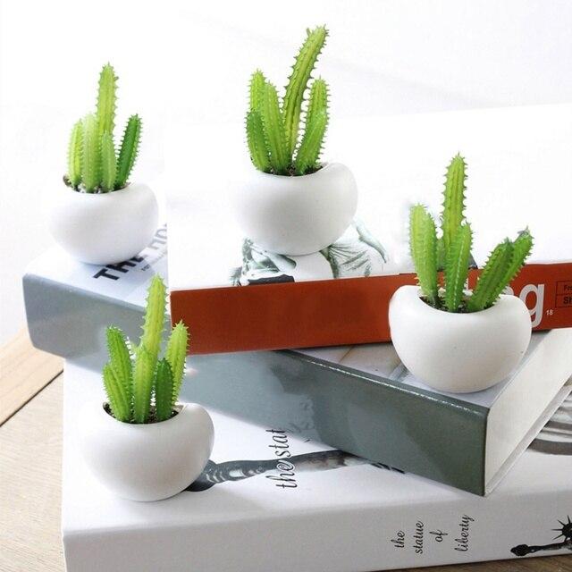 Fridge Magnets Potted Artificial Succulent Plants Bonsai Fake Flower Souvenir Blackboard Magnetic Stickers Home Wall Decor 2