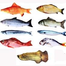 Jouets en peluche, Simulation en forme de poisson, 20/30/40 cm, oreiller, Animal de compagnie amusant