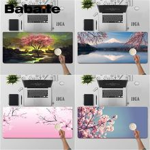 Keyboards-Mat Mouse-Pad Cherry Babaite Blossom Tree Pink Large Unique High-Quality