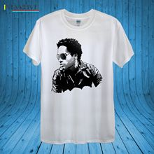 купить Lenny Kravitz Famous Singer Songwriter Actor 100% Cotton unisex women Summer T Shirt Brand Fitness Body Building White Style дешево
