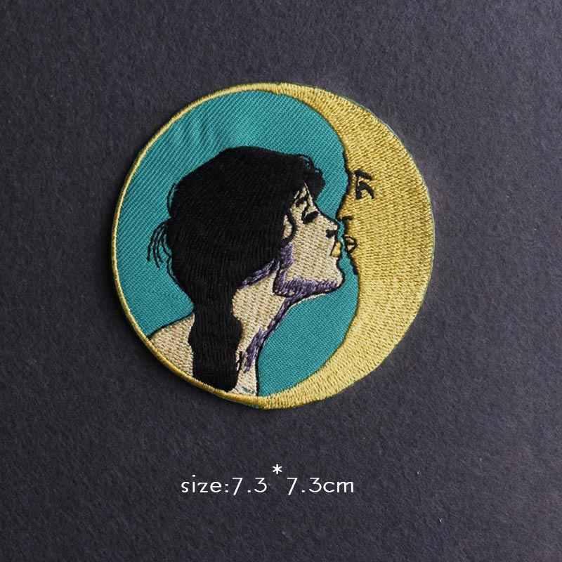 Ruhların kaçışı/Van Gogh yama demir On yamalar giysi için japonya Anime yama etiket giysi için işlemeli yamalar giyim