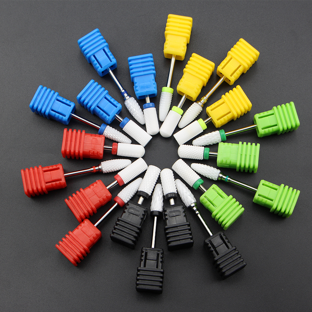 Ceramic Nail Drill Bit Rotary Milling Manicure Cutter Machine Electric Nail Drill Accessories Pedicure Nail Art File Tools
