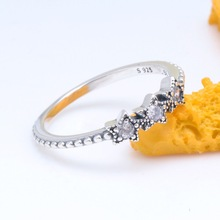 Rings Jewelry 925-Sterling-Silver Women Stars Fashion Authentic for Diy Celestial Love-Finger