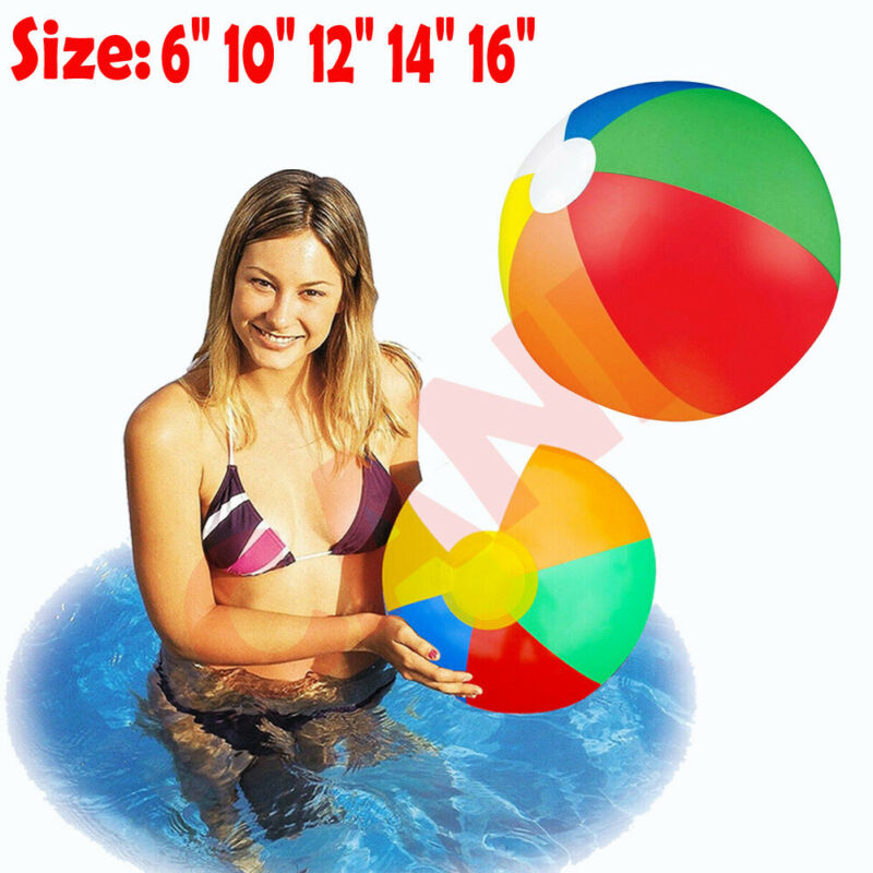 Pudcoco Inflatable Panel Beach Ball Blow Up Holiday Swimming Pool Game Party Toy Kids Water Balloons