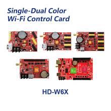Huidu HD W60 HD W62 HD W63 HD W64 HD W66 Wifi & U דיסק יציאות 1024*32 ~ 2048*512 יחיד & כפול צבע תצוגת led בקרת כרטיס