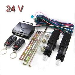 24V samochód urządzenie zabezpieczające przed kradzieżą pilot centralny zamek Keyless zdalnego sterowania alarmu wejścia systemu w Systemy bezkluczykowe od Samochody i motocykle na
