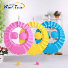 Boné durável para banho de bebê, chapéu de viseira ajustável para proteção de olho contra shampoo e à prova d'água, protetor infantil para lavar o cabelo