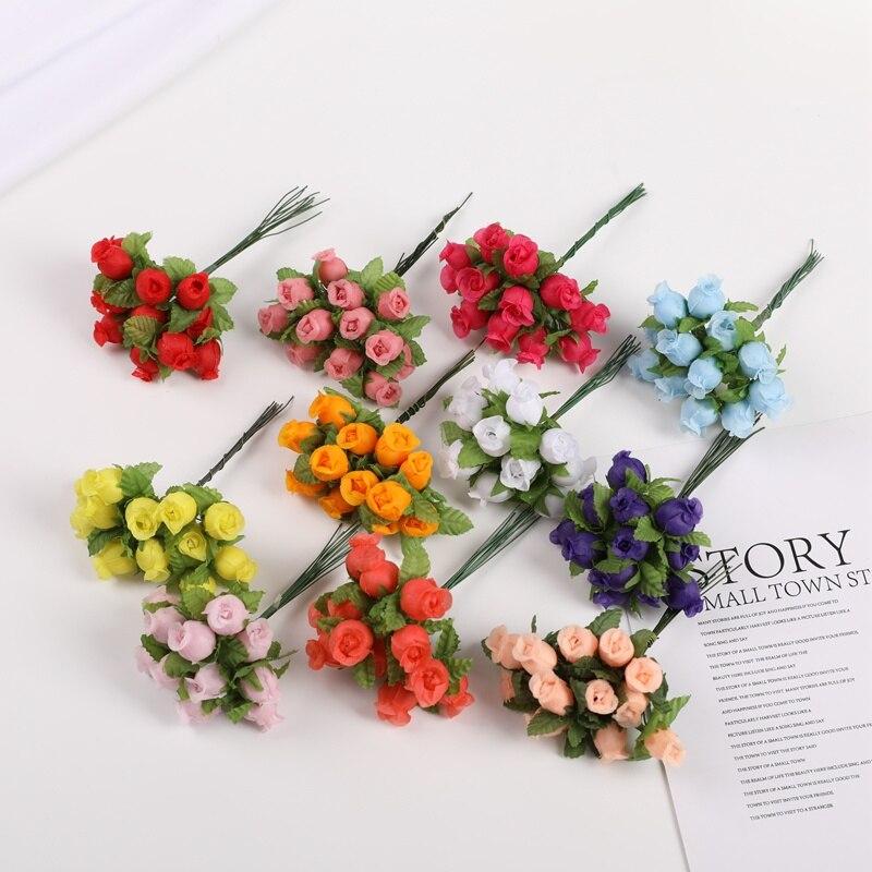 12 peças artificial romã buquê decoração de casamento decorações de natal para casa guirlanda mini decorativo pequenas flores