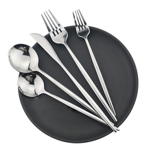 Spoon Tableware-Set Stainless-Steel 18/10 Knife-Fork Silver 30pcs Home
