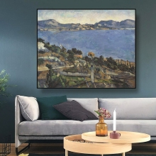 Cassisy Canvas Art Oil Painting《View Of The Bay Of Marseilles》Cezanne Poster Wall Decor Modern Home Decoration For Living room cezanne