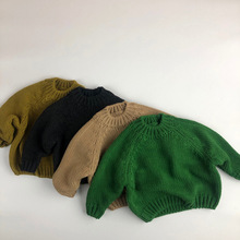 Kids Sweaters Outwears Pullovers Knitted Baby-Boy-Girl Korea-Style Winter New Autumn