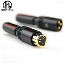 Connecteur XLR à XRL plaqué or 3 broches femelle ou mâle fiche déquilibre 6 10mm